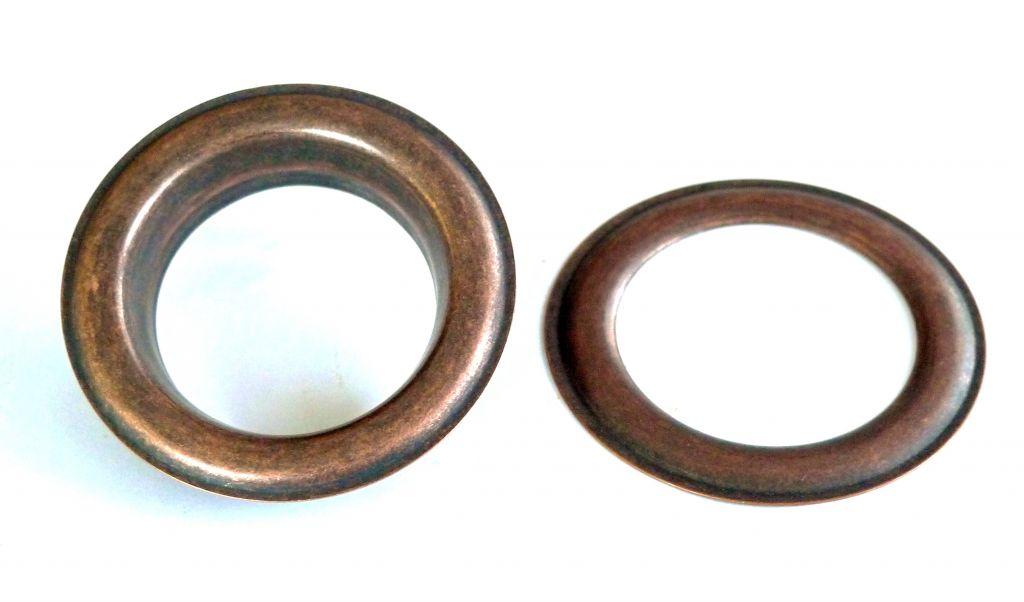 Oeillet laiton 40 mm cuivre vieilli 10300 40 cv nos - Tapisserie anti bruit ...