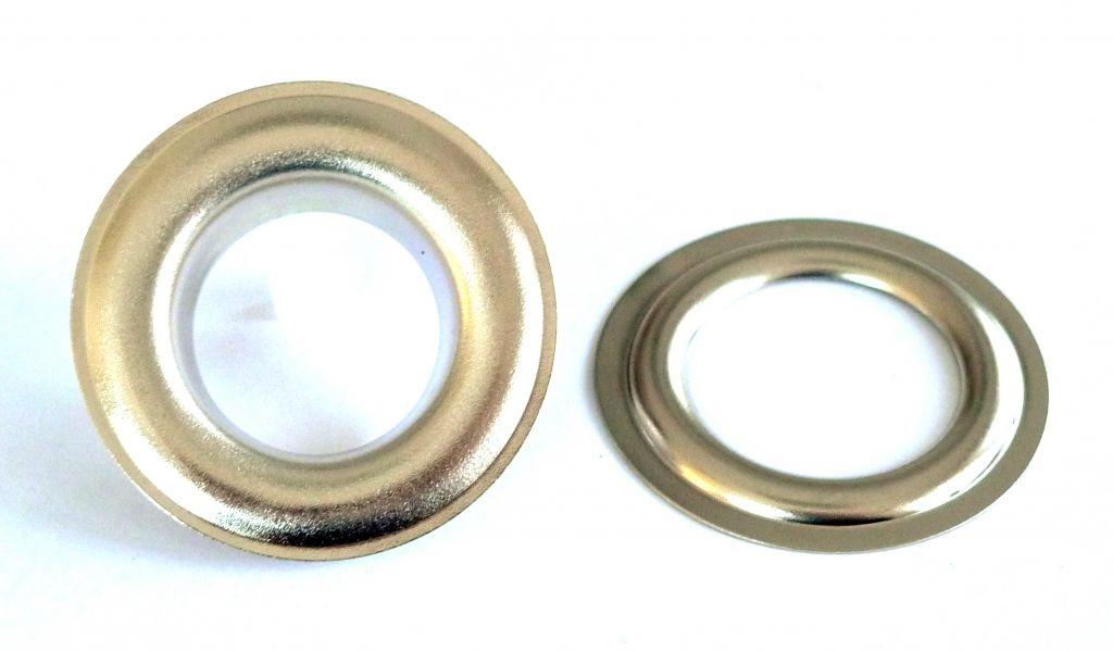 Oeillet laiton 25 mm nickel brillant 10301 25 nb - Tapisserie anti bruit ...