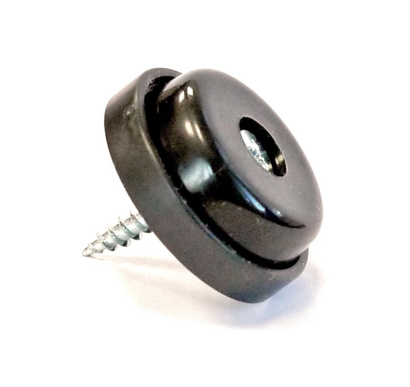 patin plastique noir 28 mm vis anti glisse 13246n nos produits fournitures pour. Black Bedroom Furniture Sets. Home Design Ideas