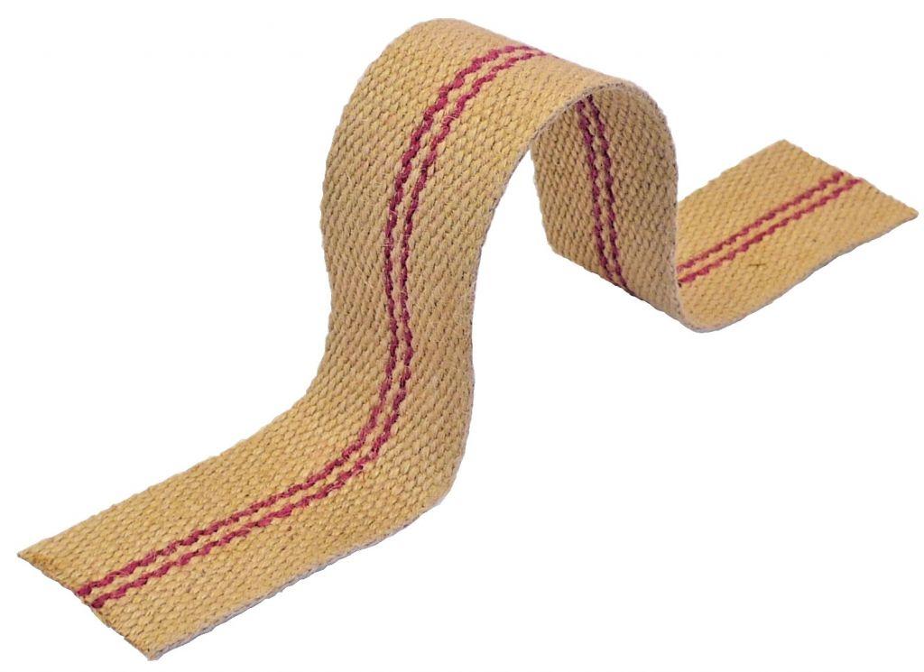 sangle jute 100 60 mm 3 bandes rouges 13721 nos produits fournitures pour tapisserie. Black Bedroom Furniture Sets. Home Design Ideas